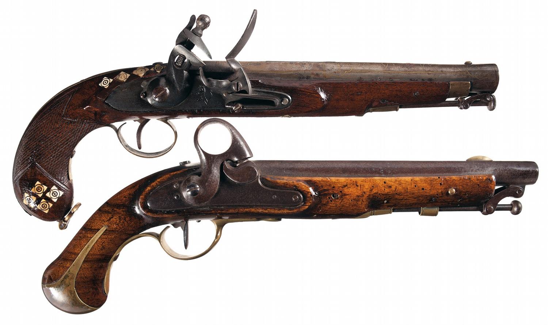 antique pistols