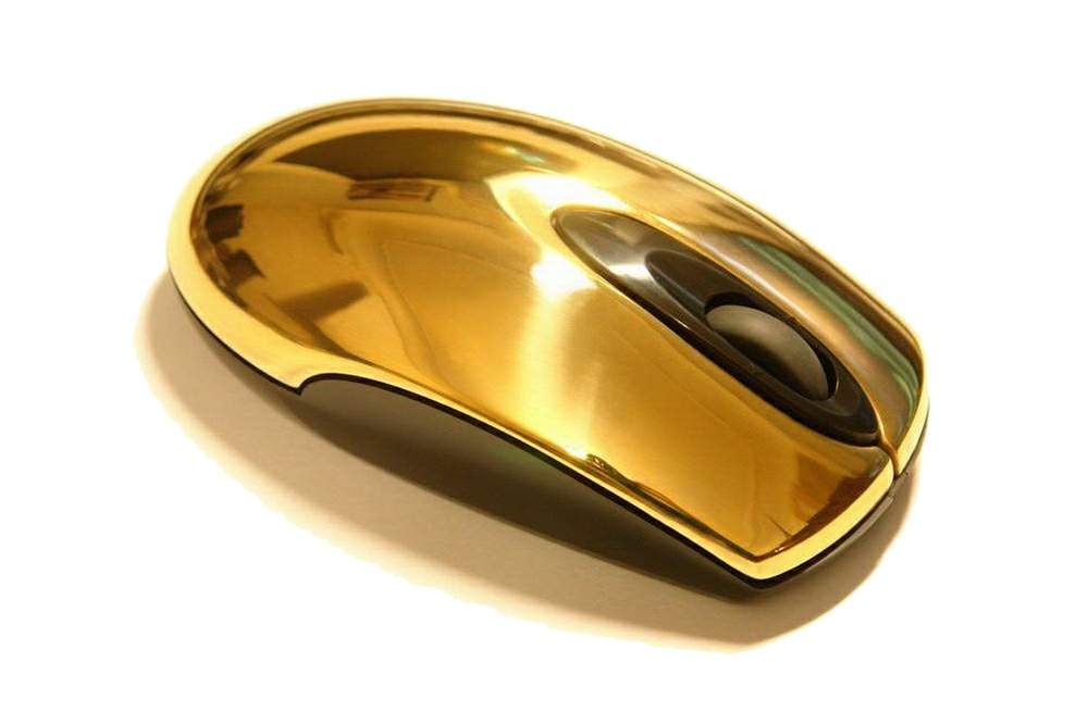 solid gold mouse