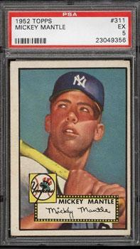 1952 Topps Mickey Mantle PSA 5: $25,300